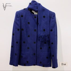 Vintage Carlisle Houndstooth Wool Blazer